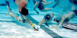 under water hockey