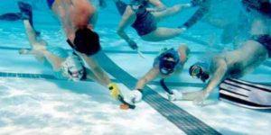 under water hockey